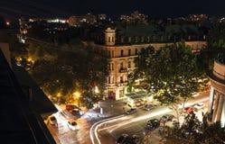 傲德萨街道在晚上 免版税库存图片