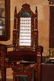 傲德萨,乌克兰- 2018先知伊莱贾的4月20,王位犹太教堂的 割除阴茎的椅子 免版税库存图片