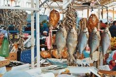傲德萨,乌克兰- 2017年10月14日:大量diff干鱼  免版税库存图片