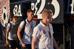 傲德萨,乌克兰- 2016年9月15日:足球运动员FC Zarya事假 免版税库存照片