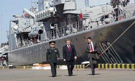 傲德萨,乌克兰- 2015年4月10日, :乌克兰总统Petro 免版税库存照片