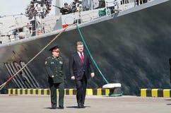 傲德萨,乌克兰- 2015年4月10日, :乌克兰总统Petro 库存图片