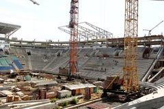 傲德萨,乌克兰- 2011年8月13日:一独特的高科技constructi 库存照片