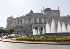 傲德萨,乌克兰- 2015年8月28日:歌剧剧院大厦在傲德萨 图库摄影