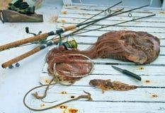 傲德萨,乌克兰2014年11月10日:海洋虾虎鱼海洋捕鱼战利品 图库摄影