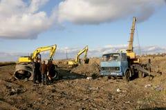 傲德萨,乌克兰- 11月9 :建筑的乌克兰工作者 免版税库存照片