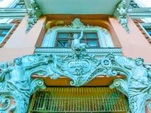 傲德萨,乌克兰- Jily 09日2017年:庭院段落在傲德萨 历史和建筑学 免版税库存图片