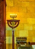 傲德萨,乌克兰- Jily 09日2017年:犹太教堂拜特Habad的内部在傲德萨,乌克兰 免版税图库摄影
