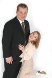 傻女儿的父亲 免版税库存照片