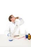 傻的化学家 免版税库存图片