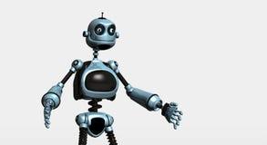 傻的机器人 库存照片