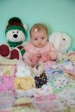 婴儿和朋友 库存照片
