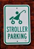 婴儿推车停车处 库存图片