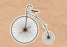 儿童三轮车(高轮子自行车) 图库摄影