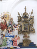 儿童上升的基督madonna 免版税库存图片