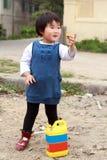 儿童中国人使用 免版税库存图片
