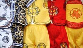 儿童中国衣物样式 免版税库存照片