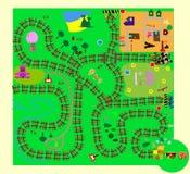 儿童乐趣迷宫s培训向量 库存图片
