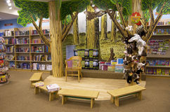 儿童书店故事区域 免版税库存图片