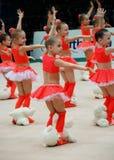 儿童体操运动员 免版税库存照片