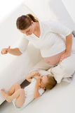 儿童使用怀孕 库存图片
