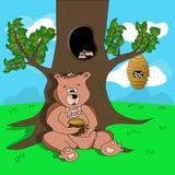 儿童例证的逗人喜爱的熊 免版税库存图片