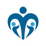 儿童保护社交标志 育儿藏青色商标 按钮查出的现有量例证推进s启动妇女 向量 免版税库存照片