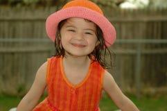 儿童傻的微笑 免版税图库摄影