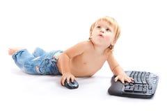 儿童关键董事会鼠标 免版税库存照片