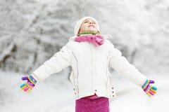儿童冬天 图库摄影