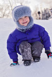 儿童冬天 免版税库存图片