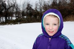儿童冷穿戴的天气 免版税库存照片