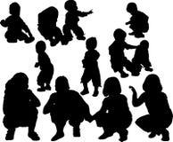 儿童剪影 免版税图库摄影