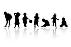 儿童剪影 图库摄影