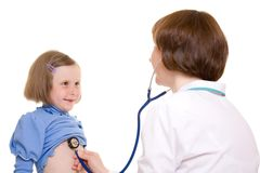 儿童医生 库存图片