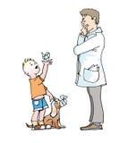 儿童医生 库存照片