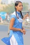 儿童印地安人学校 免版税库存照片