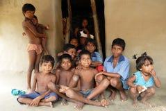 儿童印地安人村庄 免版税图库摄影