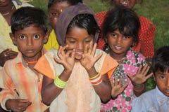 儿童印地安人村庄 免版税库存照片