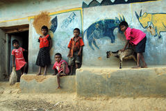 儿童印度贫寒 图库摄影