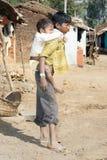 儿童印第安部族 免版税库存照片