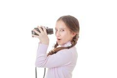 儿童双筒望远镜 图库摄影