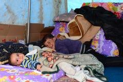 儿童叙利亚人难民画象系列  免版税库存图片