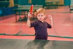 儿童台球网球员 免版税库存图片