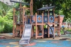 儿童台阶幻灯片锻炼 库存照片