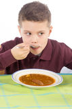 儿童吃10 免版税库存照片