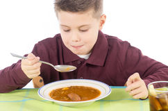儿童吃13 免版税库存照片