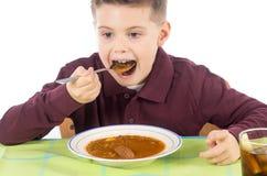 儿童吃14 免版税库存图片
