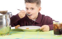 儿童吃15 免版税库存图片
