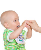儿童吃 库存图片